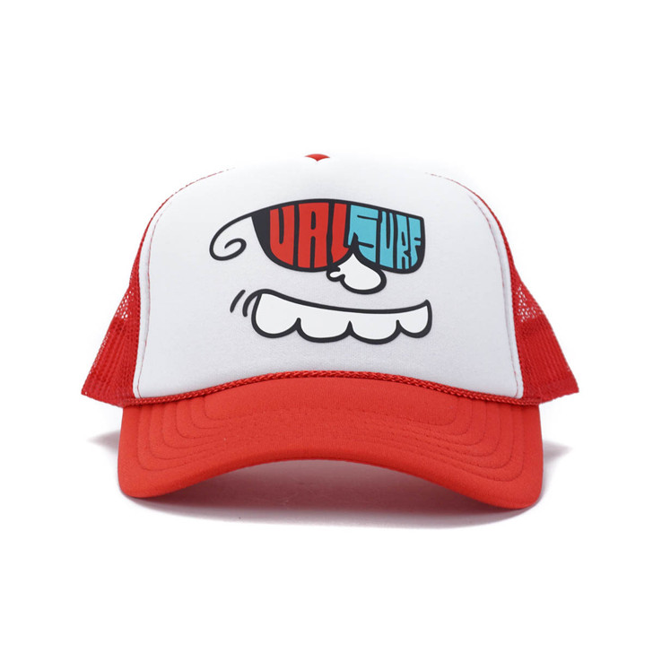 Happy Glaboe Logo Adult Hat - Red / White / Red