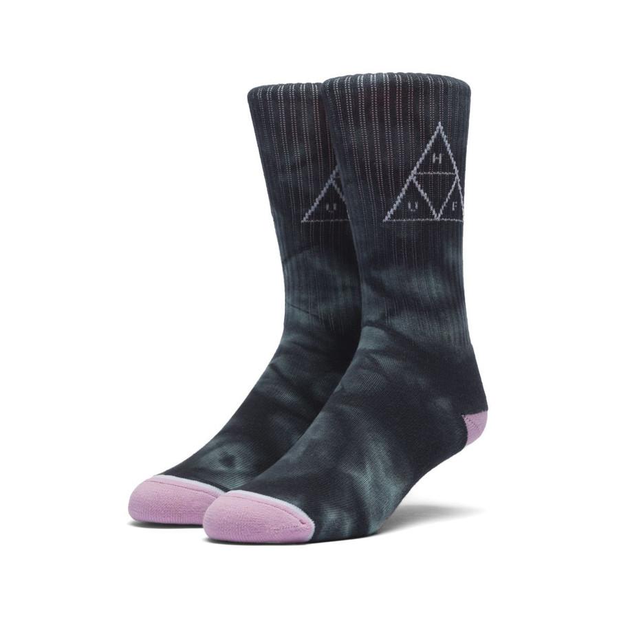 Washed Triple Triangle Sock - Jade
