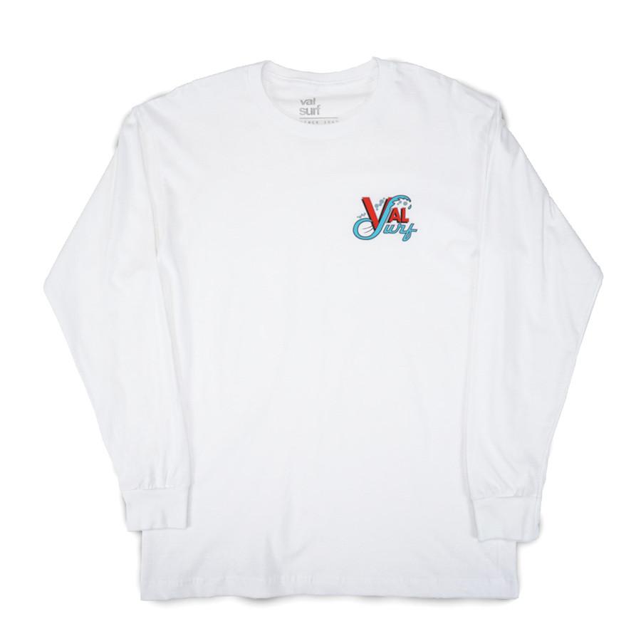 Youth OG Logo Full Color LS Tee - White