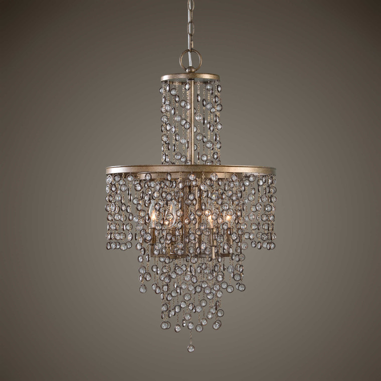 Uttermost Valka 6 Light Crystal Chandelier 21288