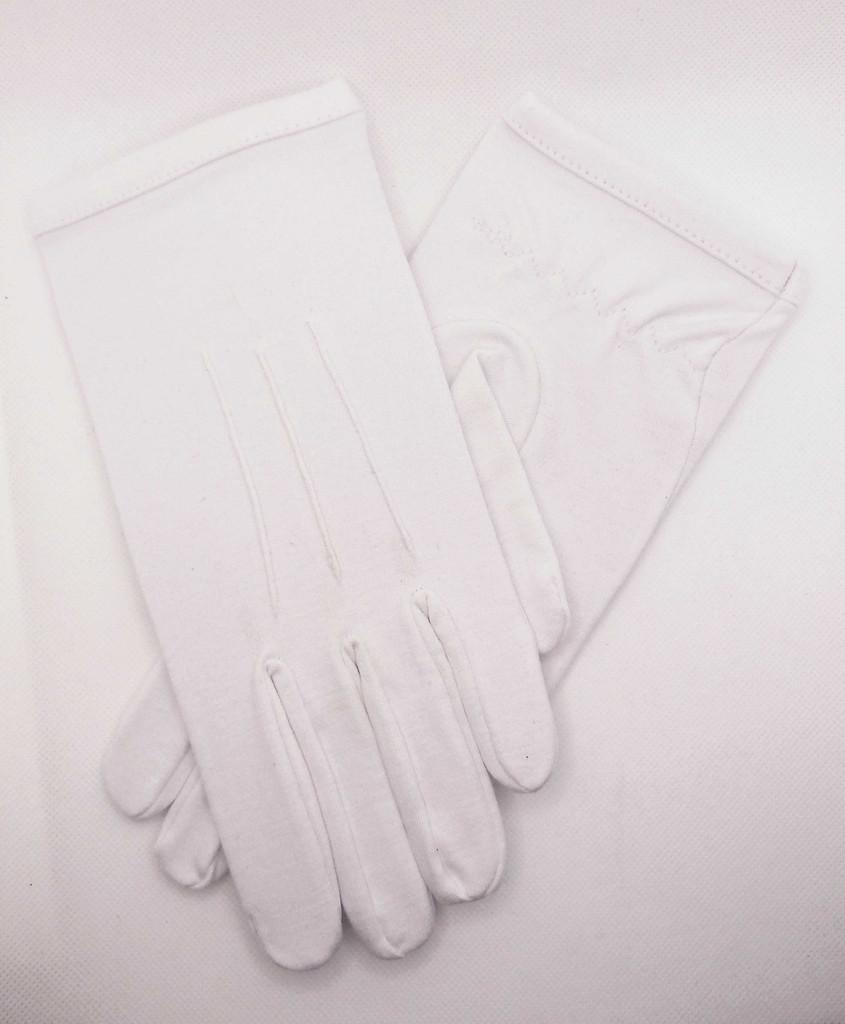 Men's White Cotton Gloves