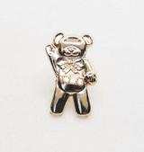 TLC Charity Teddy Bear Gold Pin