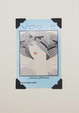 Blue Vogue Vintage Card