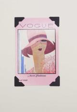 Pink Vogue Vintage Card