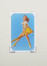 Seesaw Lady Vintage Card