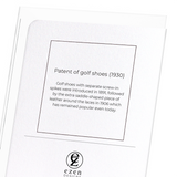 Golf Shoes Patent Card
