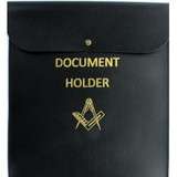 Square & Compass Document Holder