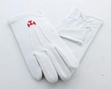 Men's Triple Tau Motif Cotton Gloves