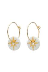 White Star Porcelain Earrings