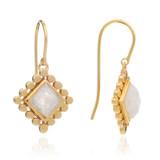 Diamond Moonstone Earrings