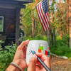 USAMUG high quality ceramic mug with USA map and colouring pen. Dishwasher and Microwave safe. Made in Europe. Registered design by Trouvaille™  Travel the World. Colour the World.