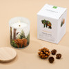 Trouvaille Global | Save The Planet Scented Soy Candle | Purifying Forest w packaging lifestyle