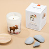 Trouvaille Global   Save The Planet Scented Soy Candle   Soothing Tundra w packaging lifestyle
