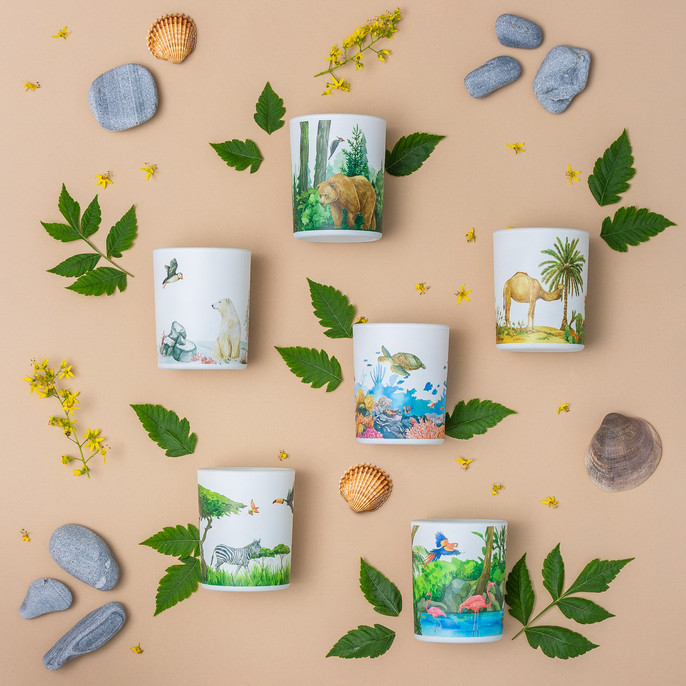 Trouvaille Global   Save The Planet Scented Soy Candle Collection