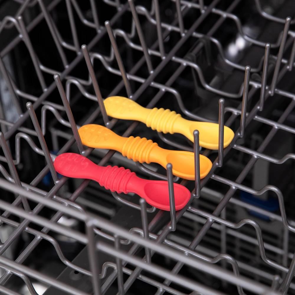 Bumkins Silicone Dipping Spoon 3pk - Tutti-Frutti - Red