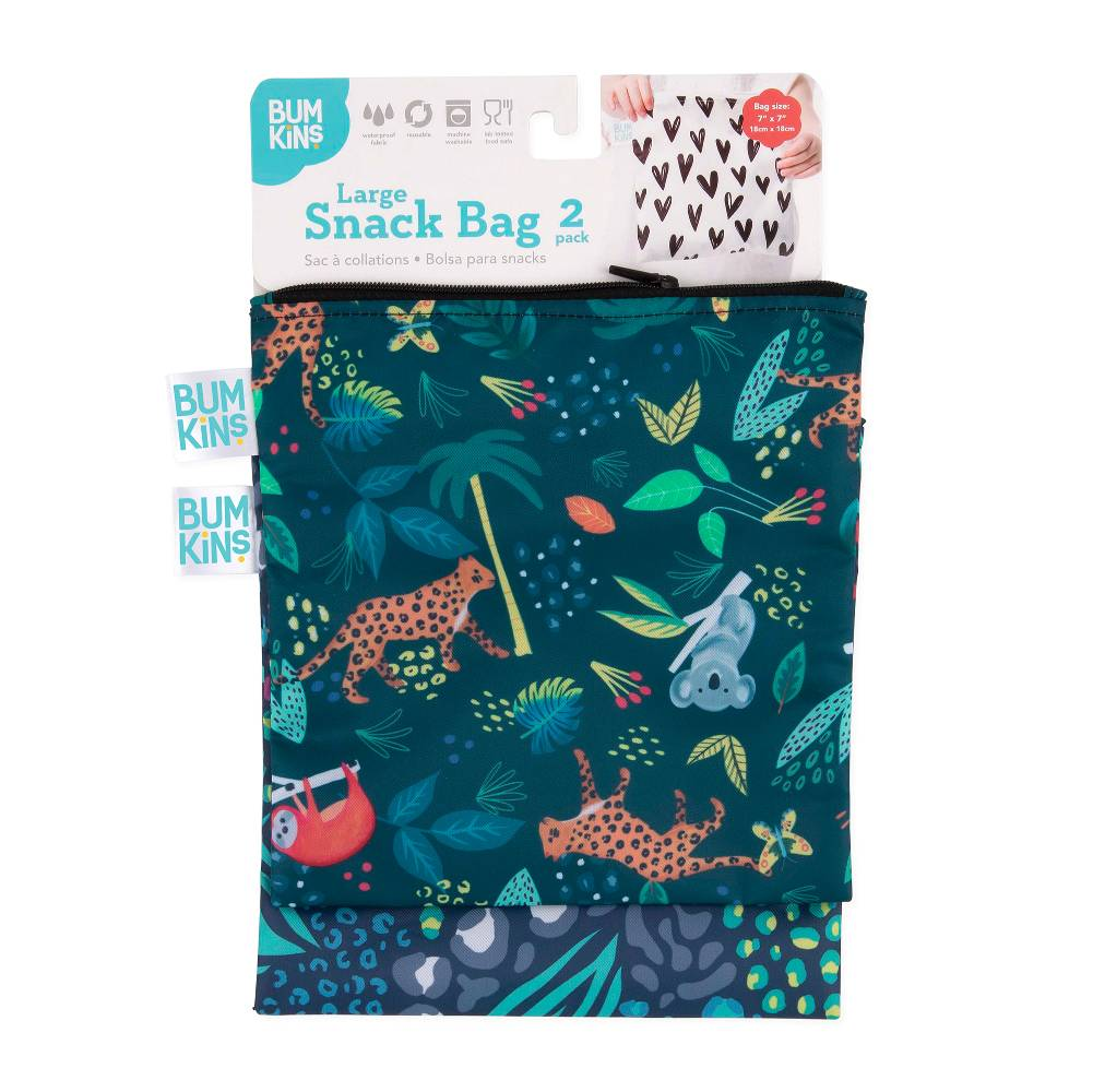Bumkins Large Snack Bag 2pk - All Together Now