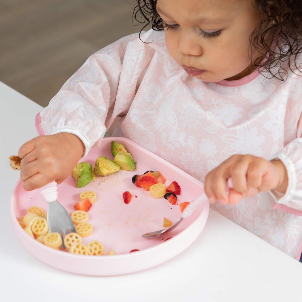 Bumkins Silicone Grip Plate - Pink