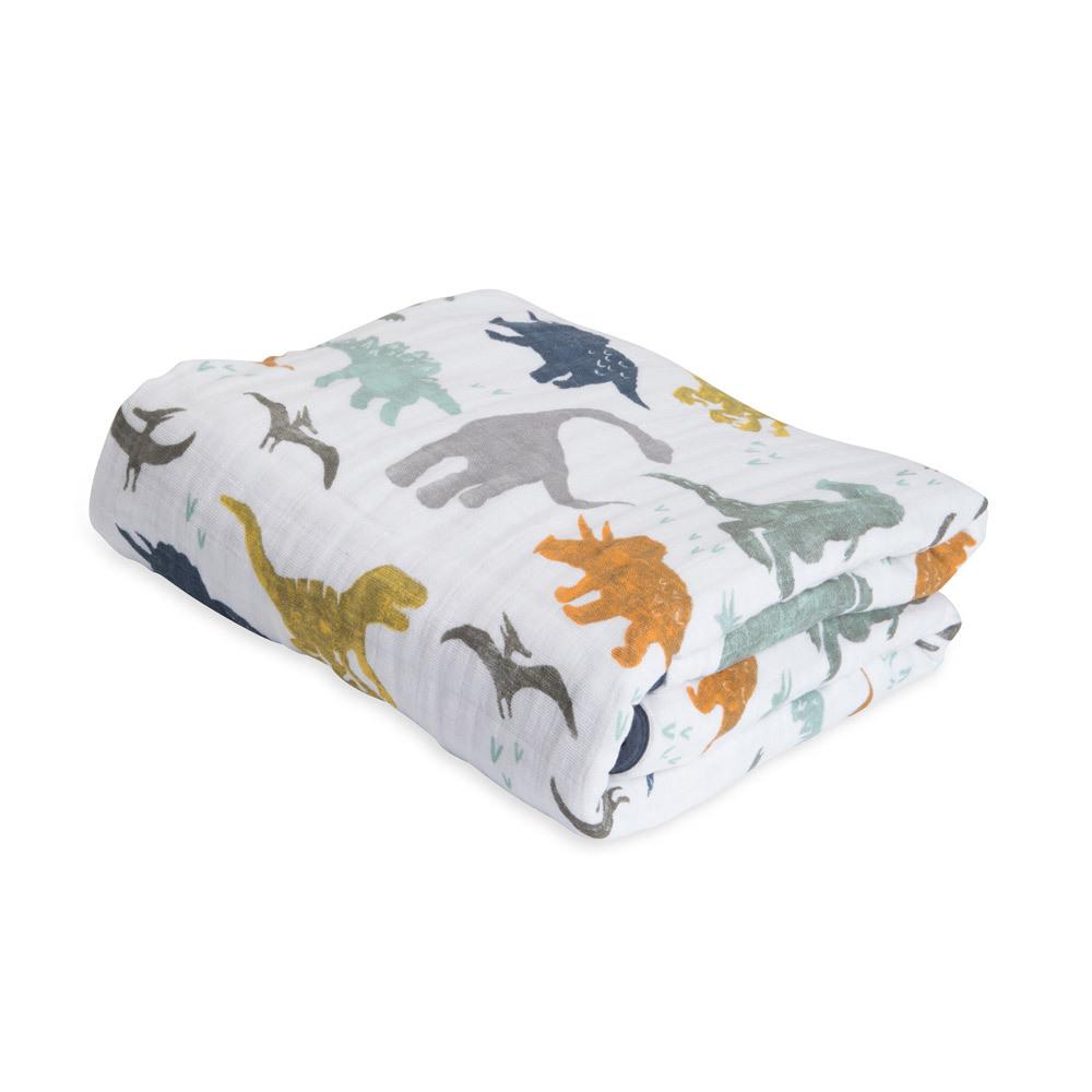 Little Unicorn, Cotton Muslin Quilt, Dino Friends