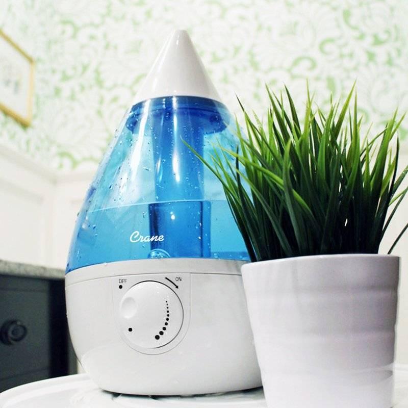 Crane Drop Cool Mist Humidifier 3.75L - White/Blue