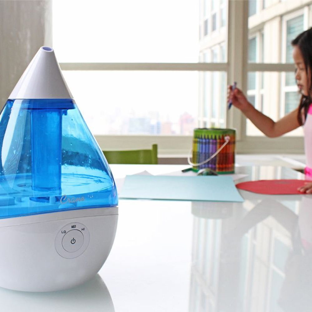 Crane Droplet Cool Mist Humidifier 1.9L - White/Blue