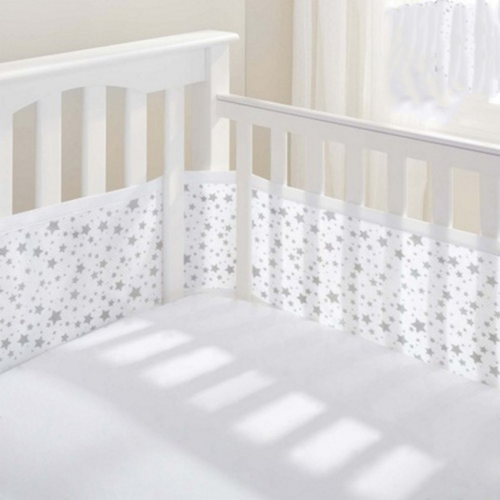 Breathable Mesh Cot Liner - 4 Sides - Twinkle Twinkle