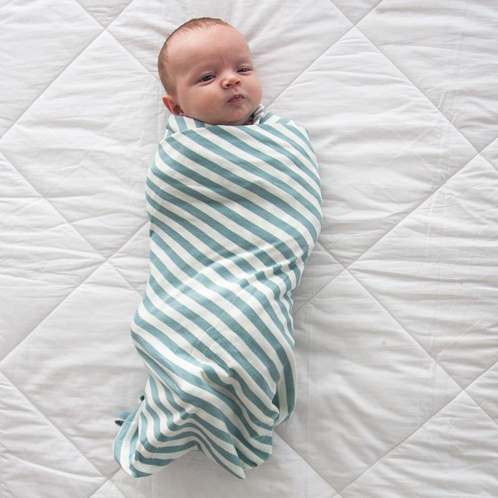 Woolbabe Merino/Organic Cotton Swaddle/Blanket - Tide