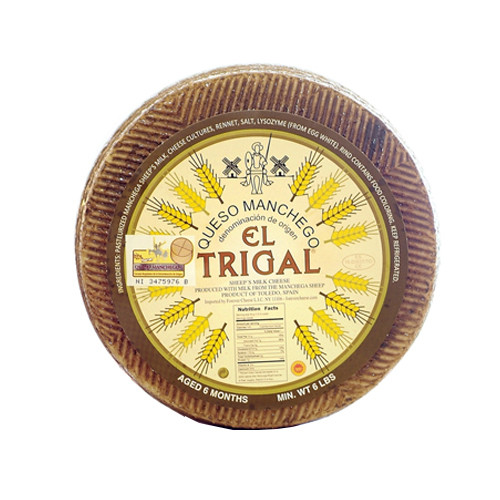 El Trigal Manchego Cheese Made with Sheeps Milk, Aged 14 Months (Sold by the Pound)