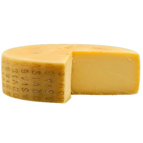 Asiago, Aged 6 Months Imported Cheese From Italy (Sold by the Pound)