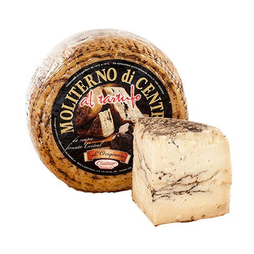 Moliterno Italian Cheese, Aged 6 Months with Truffles (Sold by the Pound)