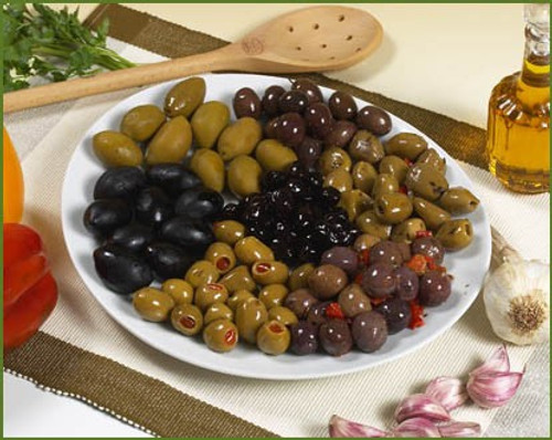 Mediterranean Olive Mix in Oil (Sold by the Pound)