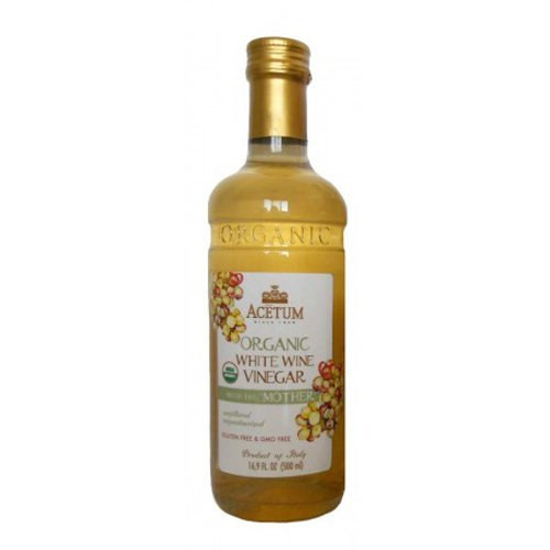 Acetum Organic White Wine Vinegar with the 'Mother' - 16.9oz