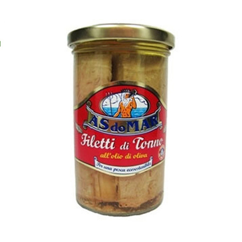 A's Do Mar Filetti Di Tonno Tuna Fillets Packed in Olive Oil - 250g