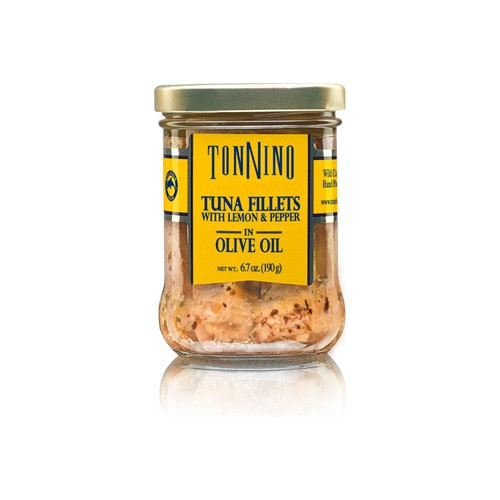 Tonnino Tuna Fillets with Lemon & Pepper in Olive Oil - 6.7oz