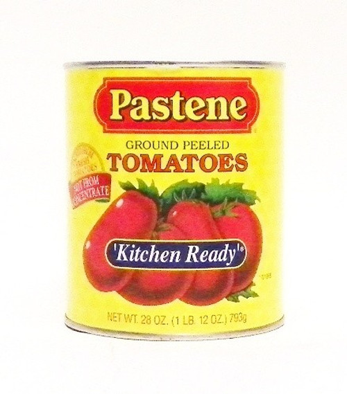 "Pastene ""Kitchen Ready"" Ground Peeled Tomatoes - 28oz"