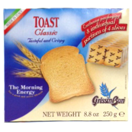 GrissinBon Plain Classic Toast Rusks - 8.8oz (Pack of 4)