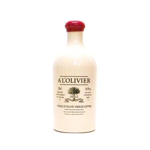 A L'Olivier Extra Virgin Olive Oil in White Ceramic Crock - 16.9oz
