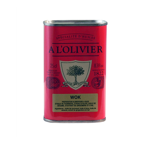 A L'Olivier Wok Olive Oil Tin - 8.3oz