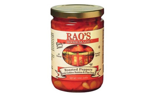 Rao's Homemade Roasted Peppers with Golden Raisins & Pine Nuts - 12oz