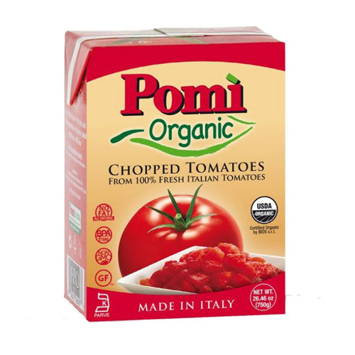 Pom?¼ Organic Chopped Tomatoes 26.46 oz. (Pack of 2)