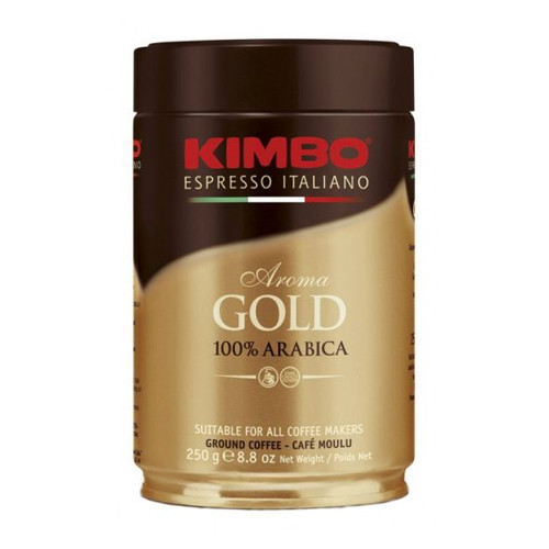 Kimbo Espresso Italiano Aroma Gold 100% Arabica Ground Coffee - 8.8oz