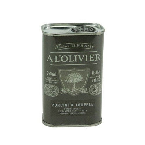 A L'Olivier Porcini Truffle Infused Extra Virgin Olive Oil Tin - 8.3oz