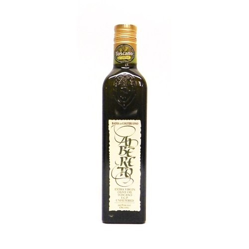 Badia a Coltibuono Albereto Unfiltered 100% Organic Extra Virgin Olive Oil - 16.9oz