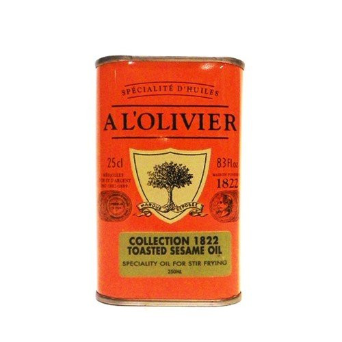 A L'Olivier Toasted Sesame Seed Oil Tin - 8.3oz