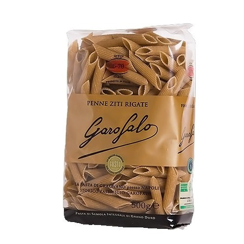 Garofalo No.5-70 Penne Ziti Rigatie Whole Wheat Pasta - 16oz (20 Pack)