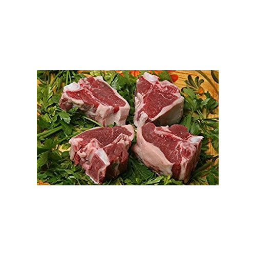 "USDA Prime Fresh American Lamb Loin Chops, Cut 1.25"" Thick (Pack of 4)"