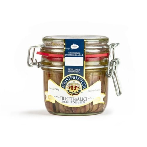 Agostino Recca Fillets of Anchovies in Olive Oil - 8.1oz