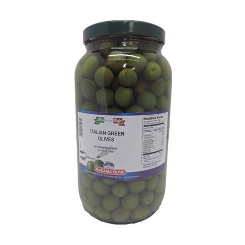 Madama Oliva Italian Green Olives Alla Calce - Net Drained Weight 4.2 lb