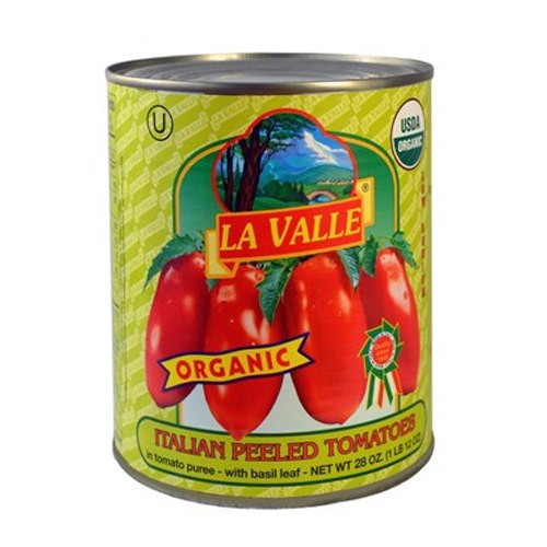 La Valle Organic Italian Peeled Tomatoes - 28oz (12 Pack)