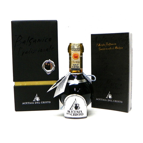 "Acetaia Del Cristo ""Diamante Nero"" Traditional Balsamic Vinegar of Modena DOP - 100ml"