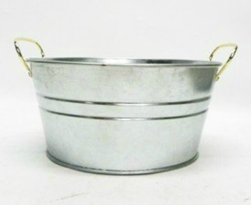 Large Round Tin Tub